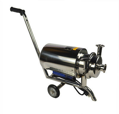 Movable 110v0.75kw 304 Food Grade Centrifugal Pump Sanitary Beverage Pump 3 Ton