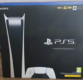 PlayStation 5 (PS5) DIGITAL Edition- New, Factory Sealed & Receipt