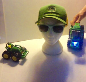 John Deere Flashlight Tractor Front End Loader Mens Cap Sunglss