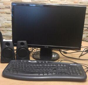 Écran 21 pouce marque Asus, haut-parleur et clavier