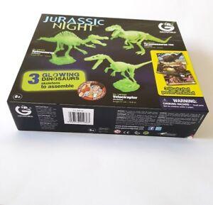Jurassic Night squelettes dinosaures phosphorescent à assembler