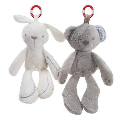 Musical Plush Crib Stroller Baby Pram Rattle Hanging Rabbit Bear Animal Toy
