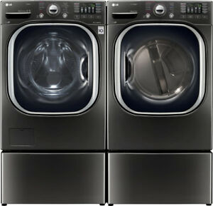 LG WM4370HKA Front Load 5.2 cu. ft. Ultra Large washer Dryer