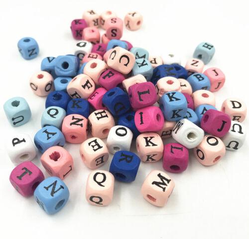 10X Holz perlen Natürlich+rosa 3D Bärenkugel Kinder Schnuller Schmuck Zubehör