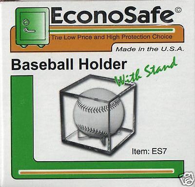 (12 Econosafe Baseball Square Holders Cube Display Case )