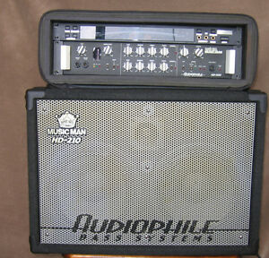 Ernie Ball 500w Amp - 2X10 Cabinet - Korg DTR-1 Tuner and Rack