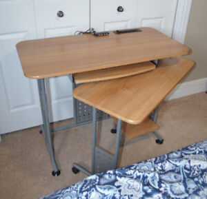 Student desk with extendable arm