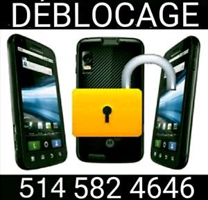 Déblocage Samsung Lg Htc Zte Alcatel Huawei 10$