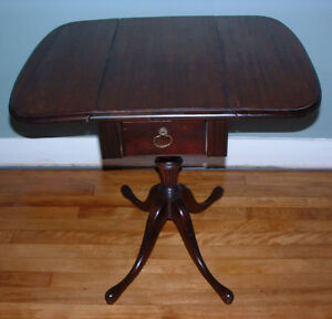 antique cherry folding side table