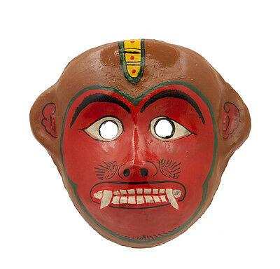 Mask Hat and Mitten Set Monkey Hanuman Indra Jatra Festival Nepal Paper Mache