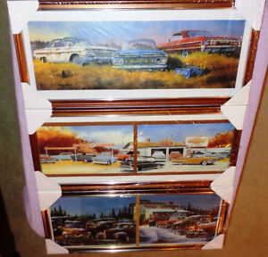 3 Vintage Pictures 1955-64 Chevy,s Pepsi Cola Cooler 49-56 Fords