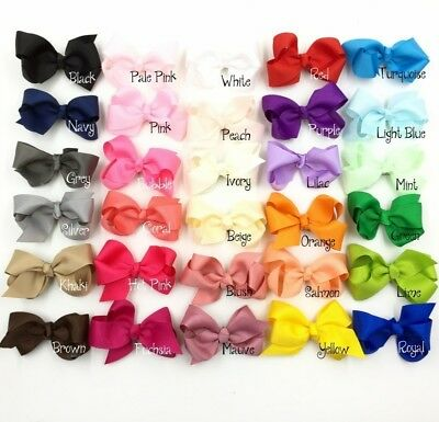 30pcs/lot 8cm Grosgrain Ribbon Flower Bows For Headbands NO CLIPS for sale  Shipping to Canada