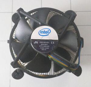 Stock Intel LGA775 heatsing and fan.