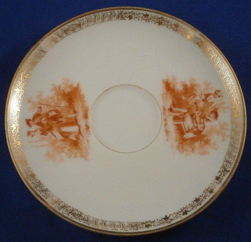 great kpm berlin porcelain orange scenic quatrefoil cup. Black Bedroom Furniture Sets. Home Design Ideas