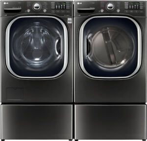 LG WM4370HKA Front Load 5.2 cu. ft. Ultra Large and Dryer