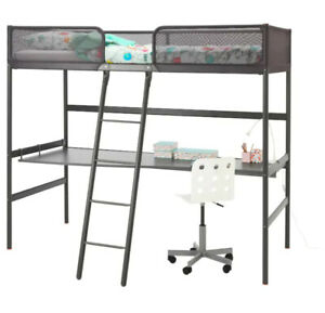 IKEA BUNK BED WITH DESK & CHAIR