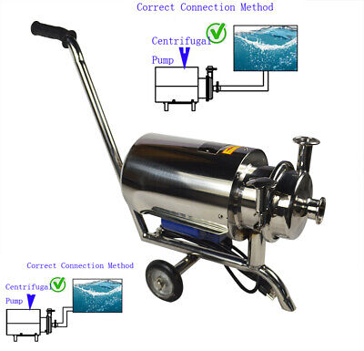 Updated Sanitary Beverage Pump 3th Full Stainless Centrifugal Pump W Armrest