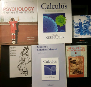 YORK UNIVERSITY PSYCHOLOGY & HUMANITIES TEXTBOOKS ALL $5 OR $10