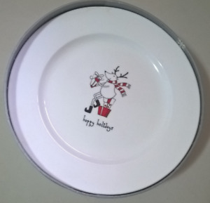 Happy Holidays Mugs & Dessert Plate set  by Kitchen Stuff plus