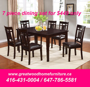 BRAND NEW WOODEN 7 PIECE DINING SET...$449