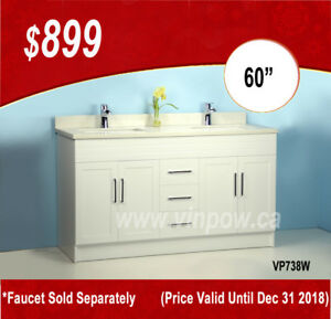 Bathroom Vanities in Incredible Prices--$899 for 60 inch vanity