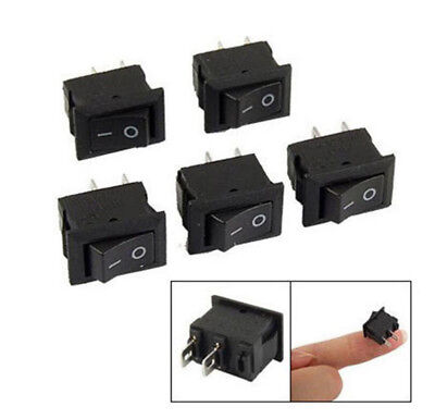 10pcs Spst Onoff Black Square Io Rocker Switch Mini Small Automotivecarboat