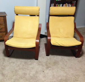 Two Poang IKEA Chairs