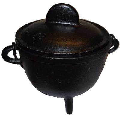 Small Black Cast Iron Cauldron 5