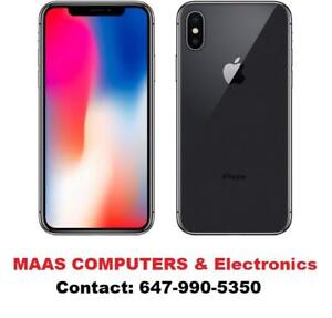 iPhone X [[64GB] [256 GB] with apple warranty!! Brand New, STORE DEAL!!!!