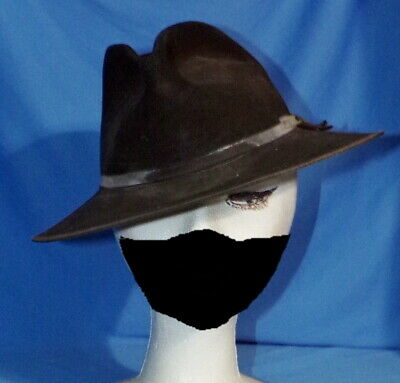 1950s Mens Hats | 50s Vintage Men's Hats 1950s MCM Black Derby Style Freddy Krueger Hat Authentic Halloween Style $30.00 AT vintagedancer.com