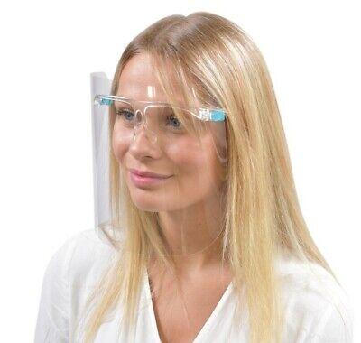 Schutzvisier mit Brillengestell, 3 x Folien gratis, Gesichtsmaske, Face Shield