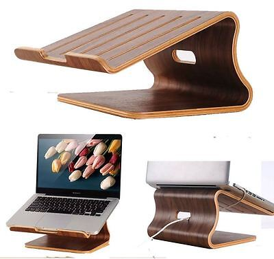 SamDi Walnut Stupid Laptop Cooling Stand Holder Wharf Tray for Macbook Air