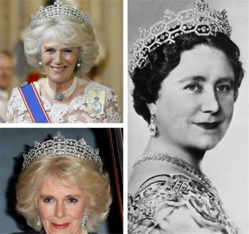 Retro Queen Crown Zircon Tiara Pageant For Wedding Bride Hair Accessories Band