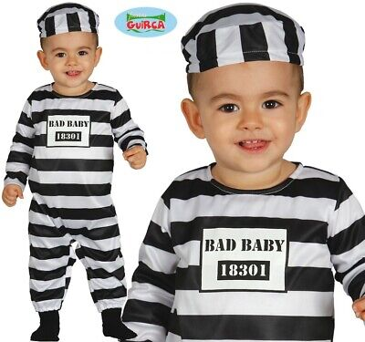 Toddler Inmate Costume (Baby & Toddler Prisoner Fancy Dress Costume Childrens Childs Convict Inmate)