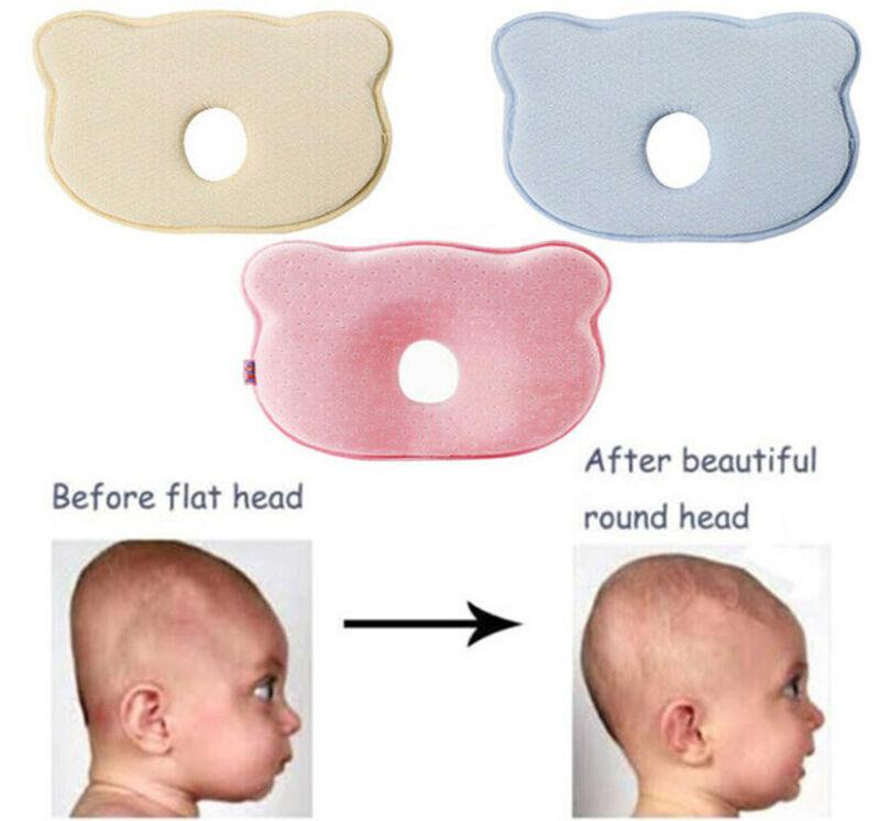 Baby Newborn Pillow Memory Foam Sleeping Prevent Flat Head Anti Roll Under 6 mon