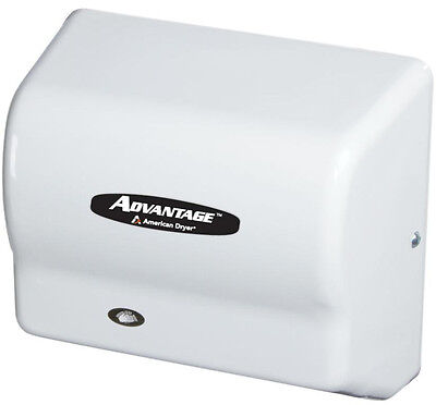 American Dryer AD90 Advantage Hand or Hair Dryer, ABS White