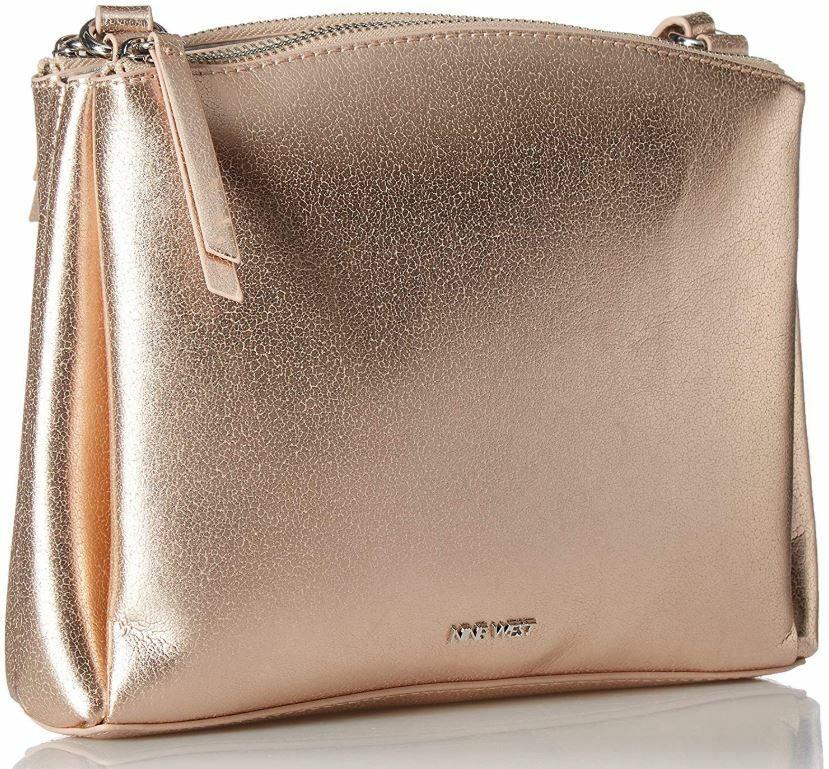 Nine West Levona Solid Metallic Crossbody Handbag One Size R