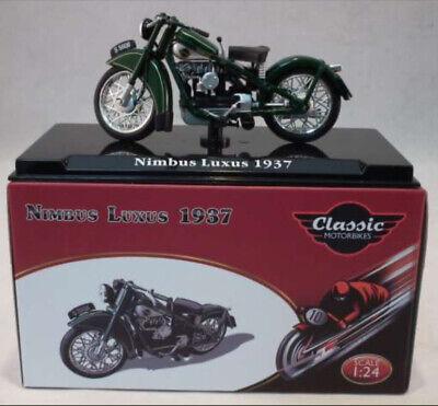 1:24 Scale Model Nimbus Luxus Green Classic Motorbike Diecast Atlas IXO 1937