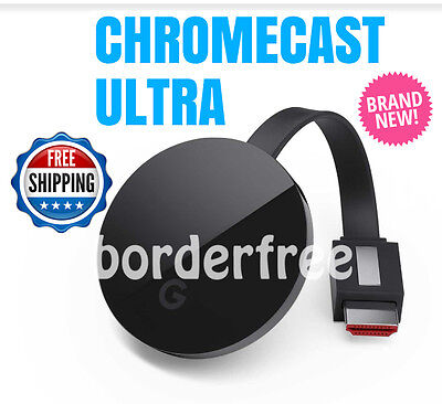 Google Chromecast ULTRA 4K Digital Media Streamer ✔ NC2-6A5-D ✔ BRAND NEW ✔