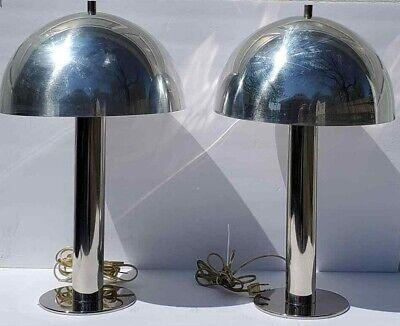 atomic age lamp ~ mid century light ~ mushroom light ~ desk lamp ~ table light ~ bedside lamp ~ brown midcentury modern lamp
