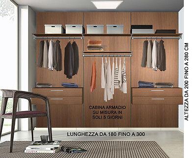 Cabina armadio di qualità su misura completa di pannelli come da foto.Guardaroba