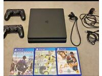 Playstation 4 Console Bundle - 2 Controllers & 3 Games! - Mint Condition