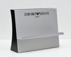 Emporio Armani Branded Display Stands - Silver and Black Colour - Set of 2