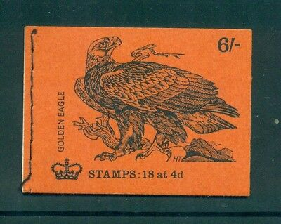 Great Britain 6s Golden Eagle Bird August 1970 Booklet QP54