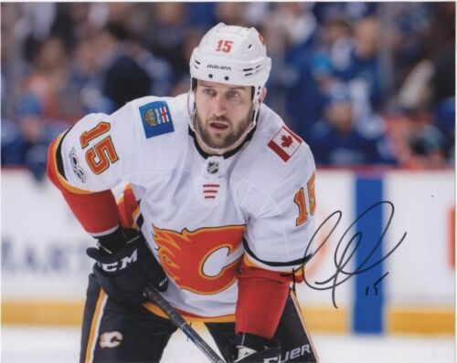 Calgary Flames Tanner Glass Autographed Signed 8x10 NHL Photo COA #2