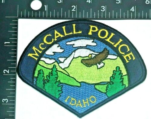 McCALL IDAHO POLICE DEPARTMENT PATCH (PD 8) SHOULDER INSIGNIA -OBSOLETE-