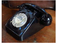 AUTHENTIC GPO ISSUE 1964 COLLECTABLE TELEPHONE, RESTORED & READY TO PLUG & GO! vintage old