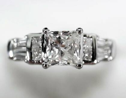 MAKE ME  AN OFFER 1.19ct F/VS2 Princess Diamond Engagement Ring