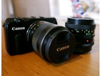 Canon EOS m Mirrorless camera (With kit and 50mm lens)