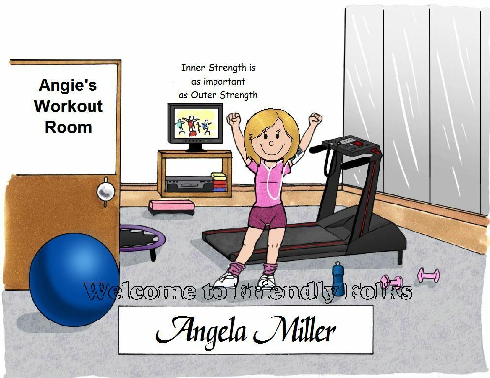 Small Personalized Workout Exercise Enthusiast Picture - Makes A Great Gift  - $8.50